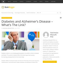 Diabetes and Alzheimer's Disease – What's The Link?
