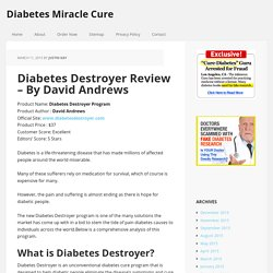 Diabetes Destroyer Review - By David Andrews