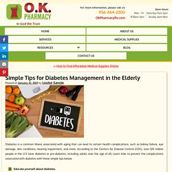 Simple Tips for Diabetes Management in the Elderly