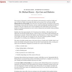 Dr. Michael Rosen – Eye Care and Diabetes
