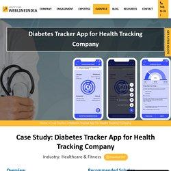 Diabetes Tracker App for Health Tracking Company