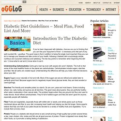 The Diabetic Diet Site A Detailed Diabetic Diet Food List