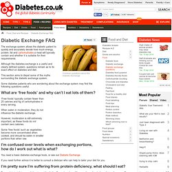 Diabetic Exchange FAQ's