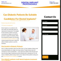 Can Diabetic Patients Be Suitable Candidates For Dental Implants?