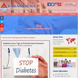 Diabetic Care: Tips to Prevent Heart Disease