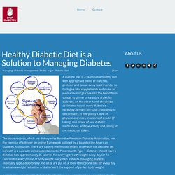 Diabetic Diet is a Solution To Overcome Diabetes
