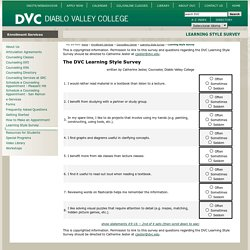 Diablo Valley College - Learning Style Survey