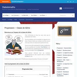 Diabolomaths - Progression - Classe de 6ème