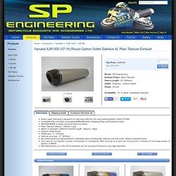 Yamaha XJR1300 Round Carbon Outlet Diabolus XL Plain Titanium Exhaust - spengineering.co.uk