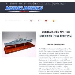 USS Diachenko APD-123 Custom Ship Model