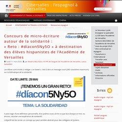 Concours de micro-écriture autour de la solidarité : « Reto : #díacon5Ny5O » à destination des élèves hispanistes de l'Académie de Versailles