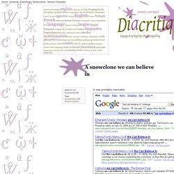 Diacritiques