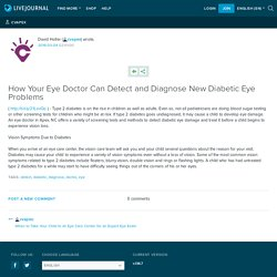How Your Eye Doctor Can Detect and Diagnose New Diabetic Eye Problems