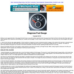 Troubleshoot Fuel Gauge