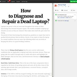 How to Diagnose and Repair a Dead Laptop?