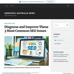 Diagnose and Improve These 3 Most Common SEO Issues – Zibdigital Australia News