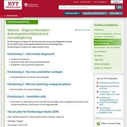 Västerås - Diagnosinformation - Autismspektrumtillstånd med normalbegåvning
