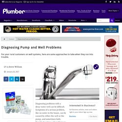 Diagnosing Pump and Well Problems