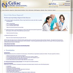 Diagnosis of Celiac Disease | Celiac Sprue Association