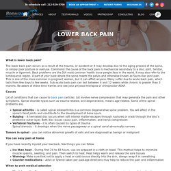 Lower Back Pain, Symptoms, Diagnosis, and Treatment - Bodhizone