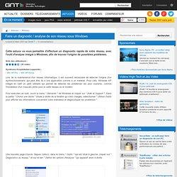 Faire un diagnostic / analyse de son réseau sous Windows : Faire un diagnostic de son réseau sous Windows