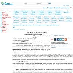 Les facteurs de diagnostic culturel - Comparaison entre la France et la Roumanie