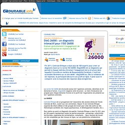 DIAG 26000 : un diagnostic interactif pour l'ISO 26000