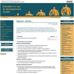 Diagnostic «déchets» - Education en vue du développement durable