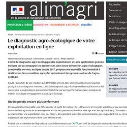 MAA 11/04/18 Le diagnostic agro-écologique de votre exploitation en ligne
