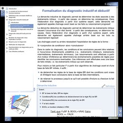 E-diagnostic - Formalisation du diagnostic inductif et déductif