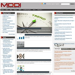 !!!! MDDI Medical Device and Diagnostic Industry News Products and Suppliers