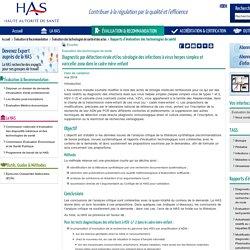 Diagnostic par détection virale et/ou sérologie des infections à virus herpes simplex et varicelle-zona dans le cadre mère-enfant