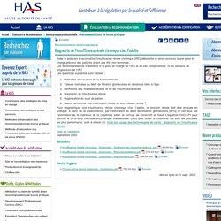 Diagnostic de l'insuffisance rénale chronique chez l'adulte