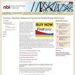 FirstView: Diagnostic Software and Services for Building Energy Performance