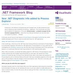 New .NET Diagnostic info added to Process Explorer - .NET Blog