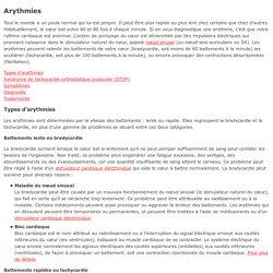 Maladies du coeur - Arythmies. Symptômes. Diagnostic. Traitement