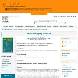 Déficit de vitamina D en el adulto: clínica, diagnóstico y tratamiento