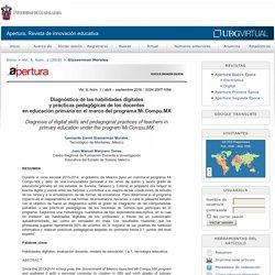 Diagnóstico de las habilidades digitales y prácticas pedagógicas de los docentes en educación primaria en el marco del programa Mi Compu.MX