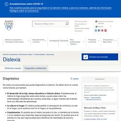 Dislexia - Diagnóstico y tratamiento