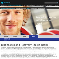 Windows Enterprise | Microsoft Diagnostics and Recovery Toolset