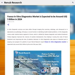 France In Vitro Diagnostics Market is Expected to be Around US$ 5 Billion in 2024