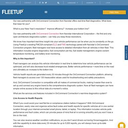 Real-Time Fleet Diagnostics with FleetUp/Navistar Partnership