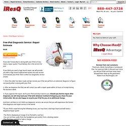 Free iPod Diagnostic Service / Repair Estimate - iPod Repair Services