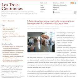 L'évaluation diagnostique en seconde : un support pour l'enseignement de l'information-documentation