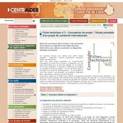 Règles de base pour réaliser un diagnostique préalable, une mission préparatoire pour un projet de solidarité internationale
