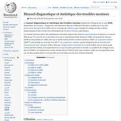 Manuel diagnostique et statistique des troubles mentaux