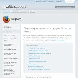 Diagnostiquer et résoudre des problèmes de Firefox