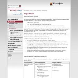 Diagnostizieren: Lernen in Vielfalt: Bildungsserver Rheinland-Pfalz