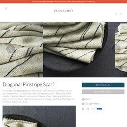 Diagonal Pinstripe Scarf