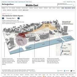 Diagram of the Battle for Tahrir Square - Interactive